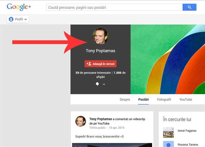 Vești bune pentru cretinii care dădeau share la Tony Poptămaș: pagina sa de Google+ încă funcționează