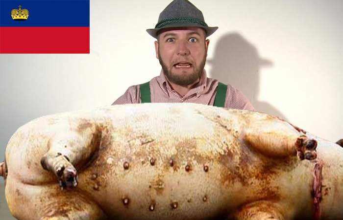 Liechtensteinul a tăiat porcul, dar a dat jumătate din el elveţienilor, că nu l-a putut mânca pe tot