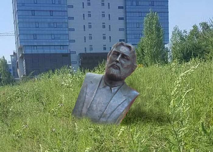 Nou atentat cu porc pe terenul mega-moscheii! Fanaticii au mutat acolo bustul lui Adrian Păunescu