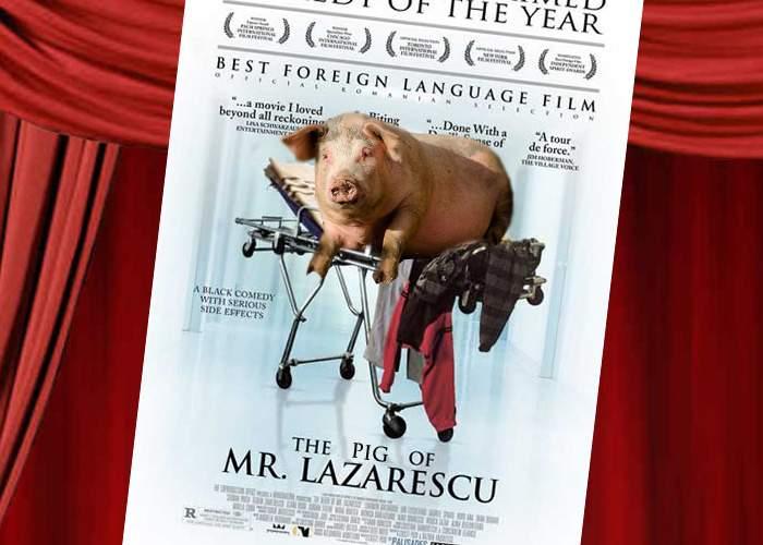 """S-a lansat filmul """"Porcul domnului Lăzărescu"""", drama unui porc plimbat cu orele între măcelării"""