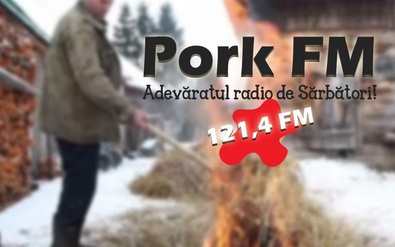 Mai festiv decât colindele! Un post de radio difuzează luna asta numai tăieri de porc