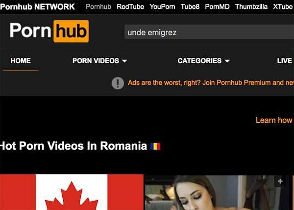 """Terminați cu dezinformările! Cea mai frecventă căutare a românilor pe PornHub nu e """"lesbian"""" ci """"unde emigrez"""""""