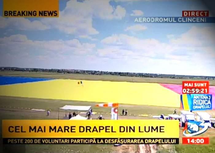 Zece lucruri despre cel mai mare steag din lume, realizat de Antena 3