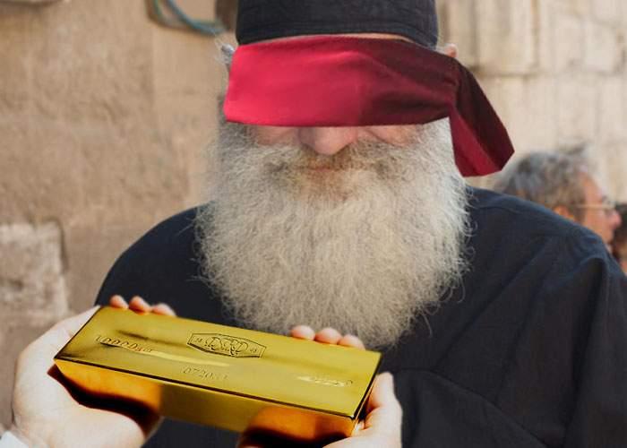 Un preot a fost excomunicat de Patriarh pentru că nu recunoaște aurul și banii dacă e legat la ochi