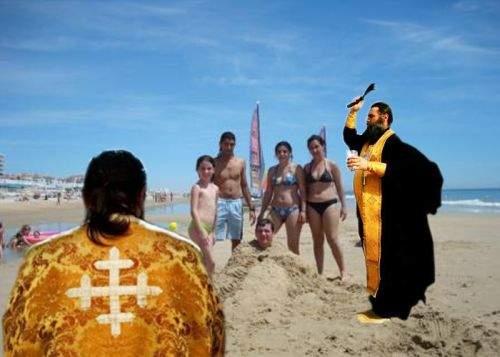 """Patriarhul Daniel: """"Turiştii se vor putea îngropa în nisip pe plajă doar în prezenţa preotului"""""""