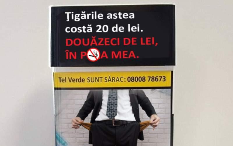 Pentru descurajarea fumatului, pe pachetele de ţigări va fi imprimat preţul