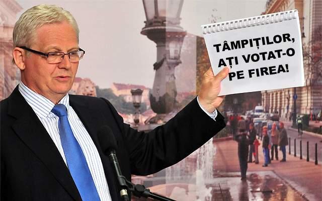 """István Tarlós, primarul Budapestei, râde de bucureșteni: """"Tâmpiților, ați ales-o pe Firea primar"""""""