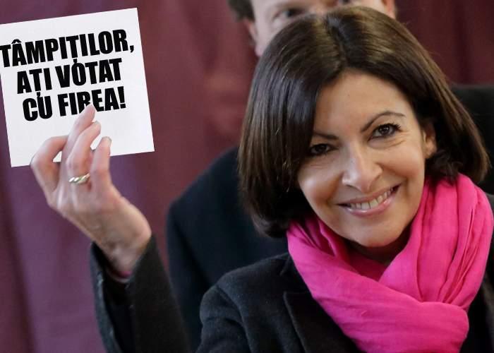 """Anne Hidalgo, primarul Parisului, râde de bucureșteni: """"Tâmpiților, ați ales-o pe Firea primar"""""""