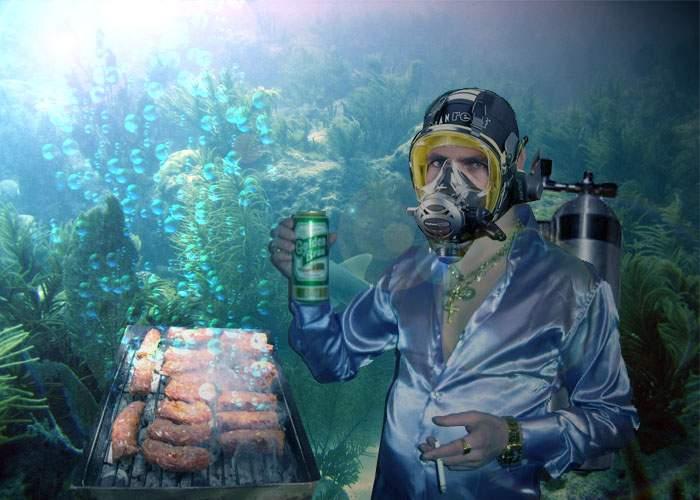 Lumea e balconul lor! Un echipaj de scafandri cocalari a reuşit să facă primul grătar sub apă