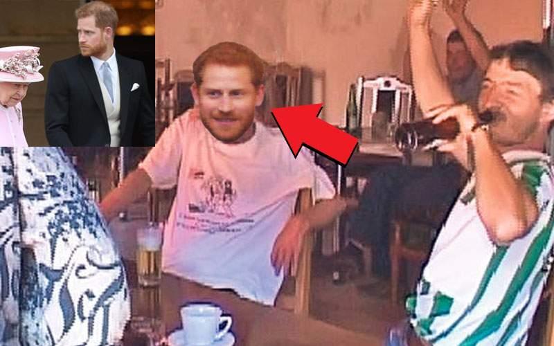 Harry, tu eşti, mă? Un tânăr roşcat bea de trei zile pe datorie la birtul din Viscri