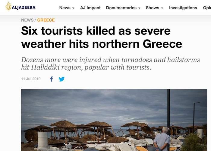 Grecii s-au prins că urgiile naturii coincid cu prezenţa masivă a turiştilor români