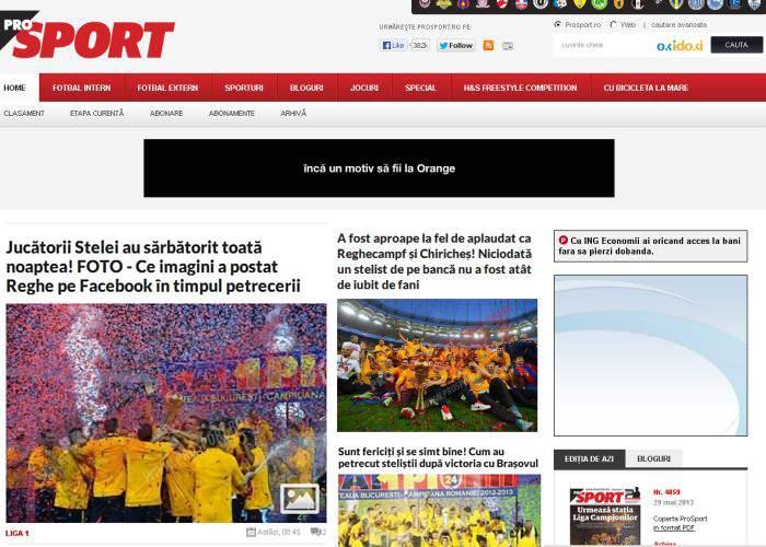 """Campanie ProSport: """"Dacă găseşti în altă parte mai multe articole cu Steaua, renunţăm la VEZI AICI"""""""