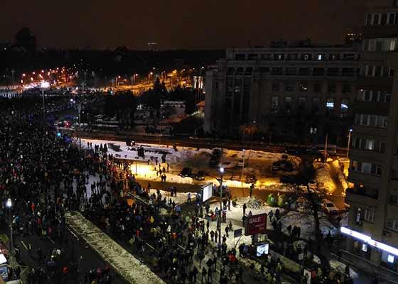 Atenţie, români. După intrarea în vigoare a Ordonanţei, protestul are loc la Otopeni Plecări!