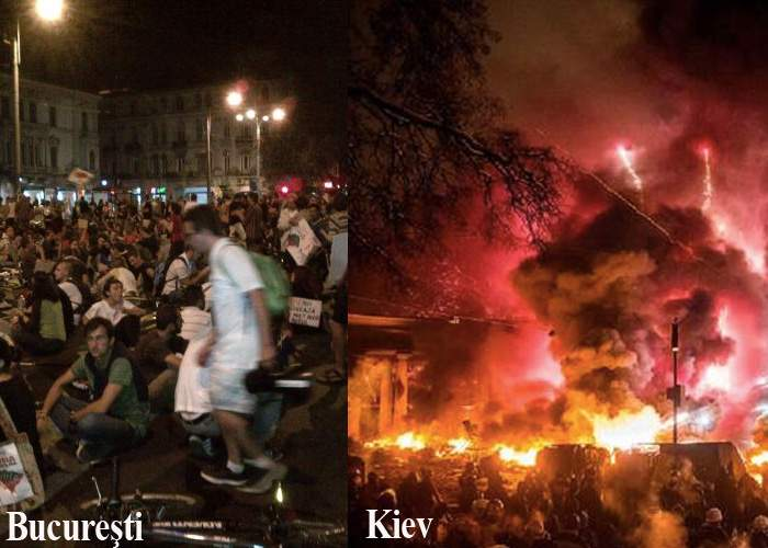 """Protestatarii anti-RMGC au dus voia bună la Kiev: """"Dăm cu peturile în asfalt, distrăm manifestanţii"""""""