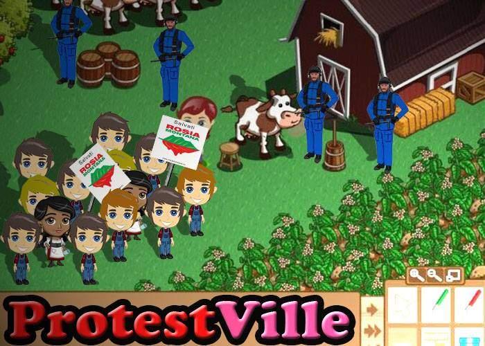 Românii, înnebuniţi de un nou joc pe Facebook: ProtestVille, în care aduni protestatari şi manifestezi