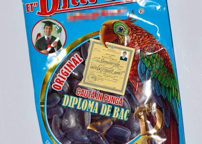 Marketing inteligent. O companie a lansat pungile de seminţe cu diplome de bac în ele, pe post de premii