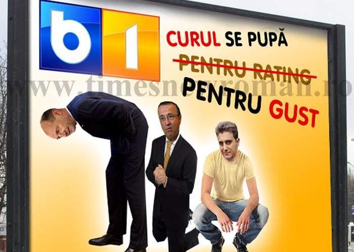 """Poza zilei! B1TV a lansat campania: """"Curul se pupă pentru gust!"""""""