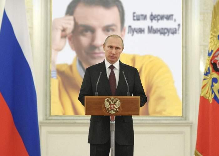 Putin, despre prăbuşirea rublei: Sper că Lucian Mîndruţă e fericit acum!