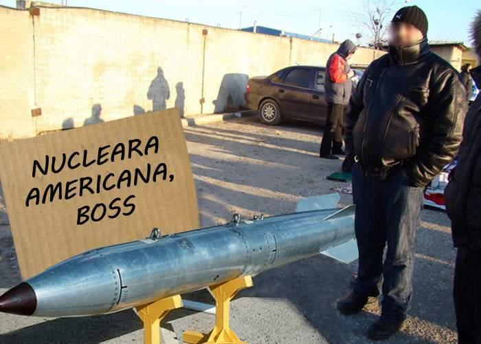 Deși încă n-au fost aduse oficial în România, în Piața Obor găsești deja rachete nucleare americane