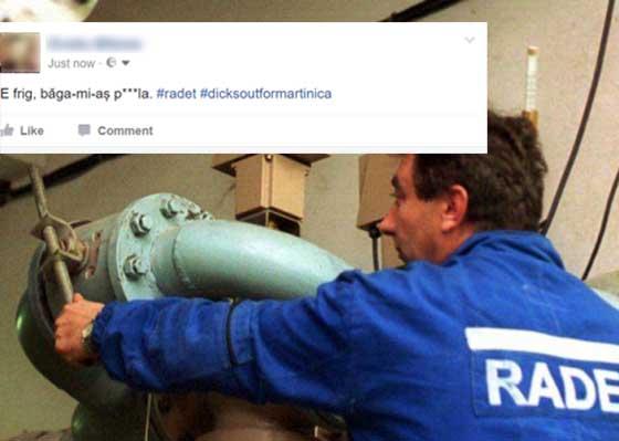 RADET va da drumul la căldură doar după trei zile consecutive cu statusuri despre frig pe Facebook