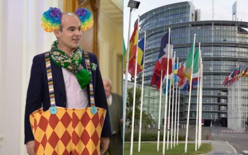 Rareş Bogdan a făcut circ la Bruxelles, după ce a fost numit şeful comisiei de clovni