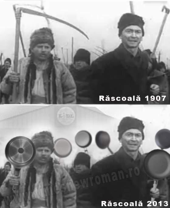 Poza zilei! Cum ar arăta Răscoala din 1907 dacă ar avea loc în 2013