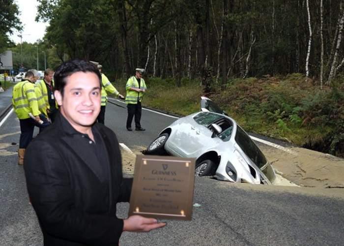 Nou record mondial în România! Un şofer român a dat azi în groapa cu numărul 1 milion!