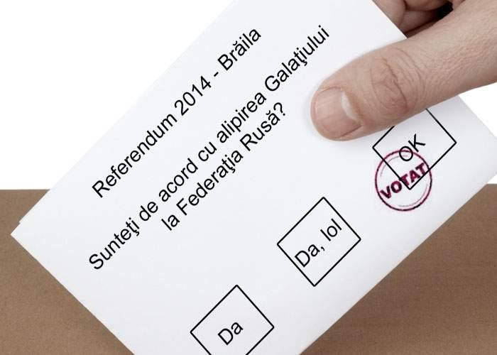 Se ţin de şotii! Brăilenii au organizat un referendum pentru alipirea Galaţiului la Rusia
