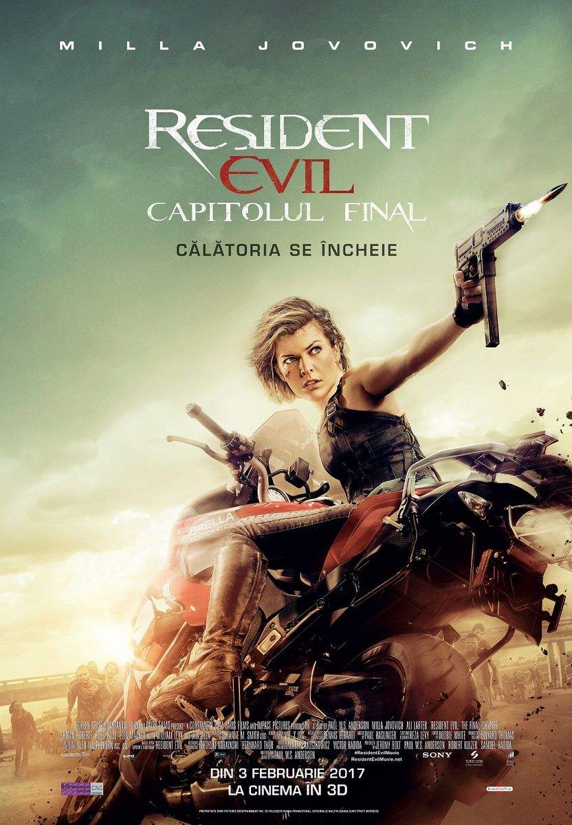 Resident Evil: The Final Chapter 3D (2016) – Tragem linie și picotim
