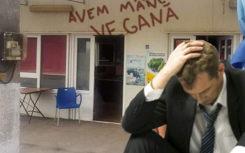 """Restaurant, ruinat după ce nişte huligani au scris pe uşă """"Avem mâncare vegană"""""""