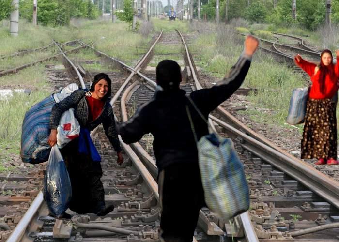 Romii solicită restricţii de viteză pe toate liniile CFR, să aibă timp să se ferească