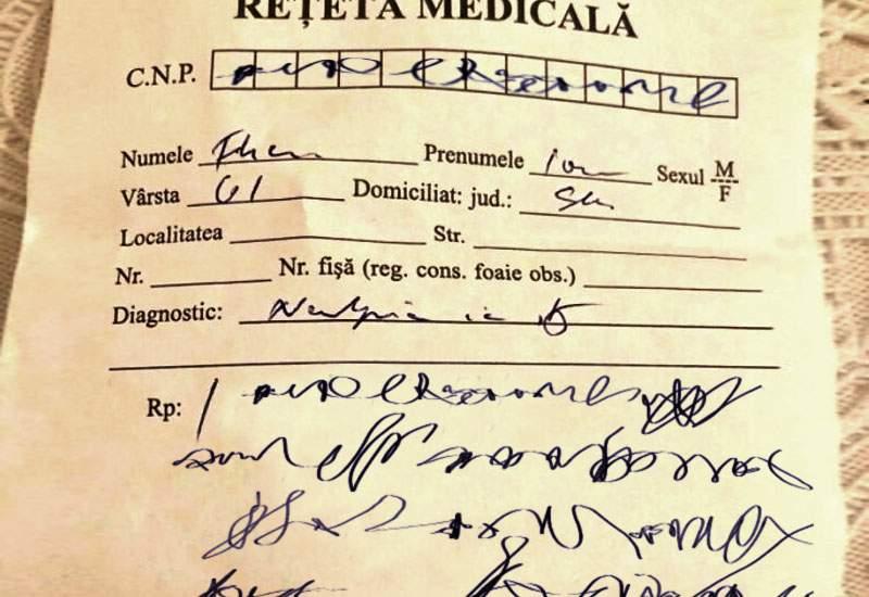 Românii iau medicamente greşite, că farmaciştii nu înţeleg ce scriu medicii pe reţetă