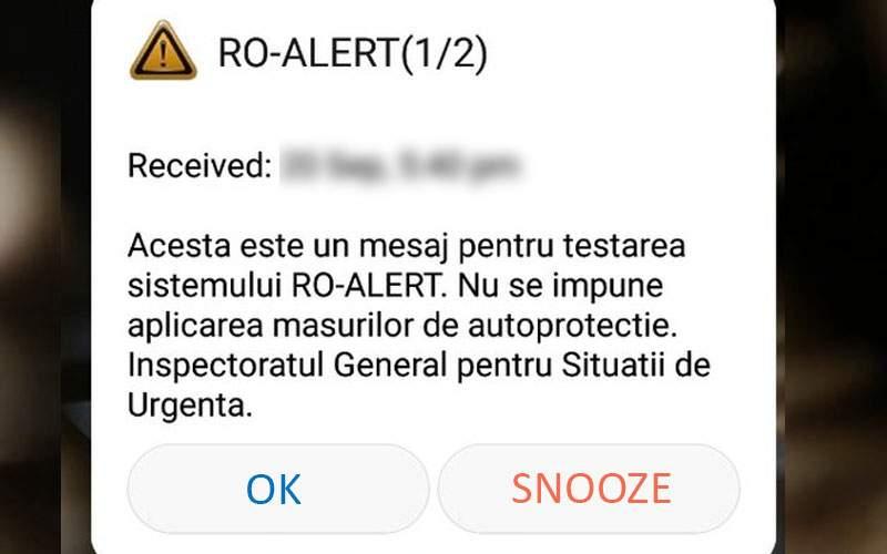 În sfârşit, o veste bună! Sistemul Ro-Alert va fi dotat cu buton de snooze