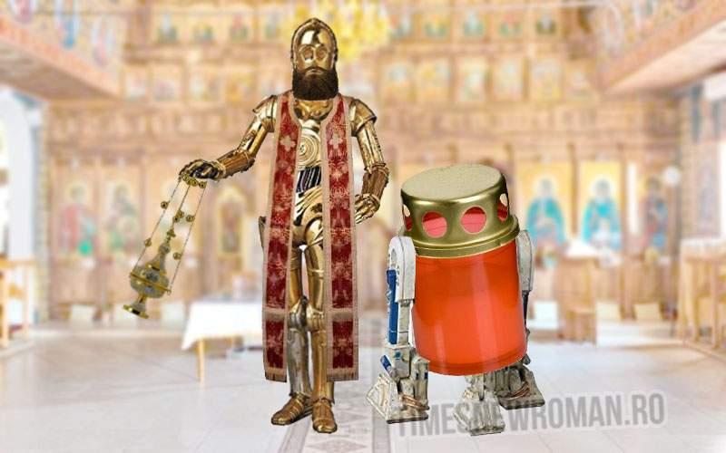 BOR se modernizează! Va înlocui 300 de preoţi cu roboţi din aur masiv
