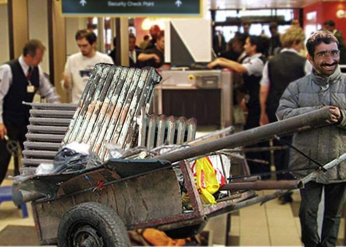 Român prins la detectorul de metale din aeroportul Heathrow cu 3 calorifere