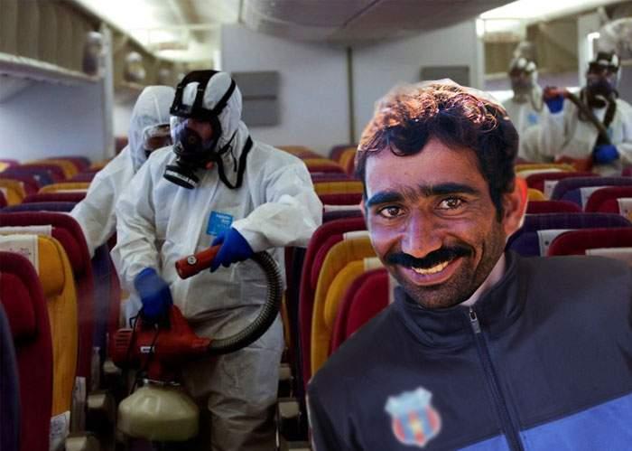 Încă un român izolat în avion cu echipament biohazard, pentru că mâncase mici