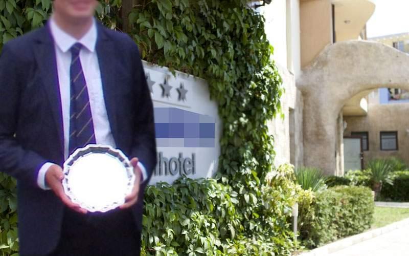 Un român prins plecând din hotel cu o farfurie susţine că a câştigat-o la tenis
