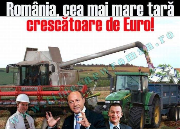 România, ţara care oferă cele mai bune condiţii pentru creşterea euro