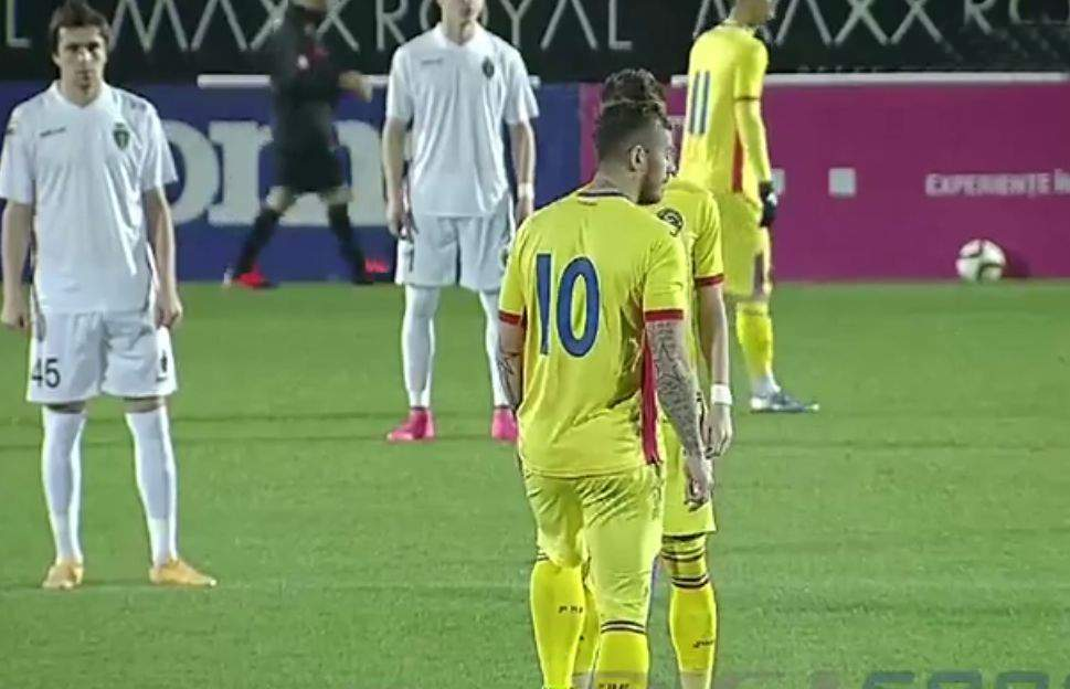 """Gafă la ultimul meci al Naţionalei! Gazdele au difuzat """"Bă, Cristi"""", crezând că e imnul României"""