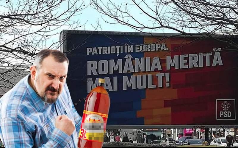 """PSD, distrus! Sloganul """"România merită mai mult"""" era luat de inventatorul berii la 3 litri"""