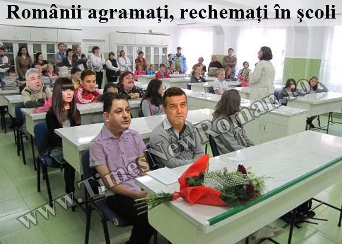 Milioane de agramaţi, rechemaţi la şcoală pentru defecţiuni la sistemul de folosire a limbii române
