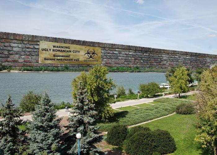Bulgaria face un zid spre malul românesc al Dunării, ca să nu se mai vadă orașul Giurgiu