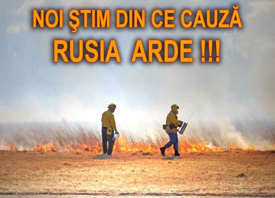 TNR face dezvăluiri: Cauza incendiilor din Rusia este `…`