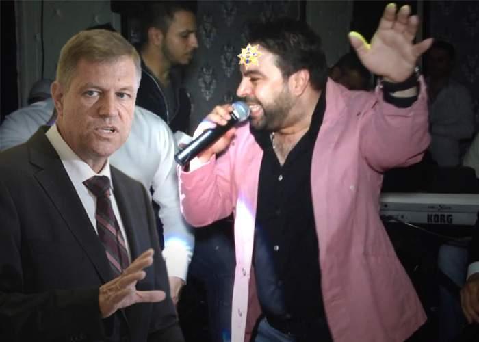 """Iohannis decorează şi alţi artişti! La o nuntă, i-a lipit lui Salam """"Steaua României"""" pe frunte"""