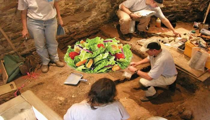 Dovada că vegetarianismul e ceva nou. A fost găsită o salată veche de 6000 ani, neatinsă!