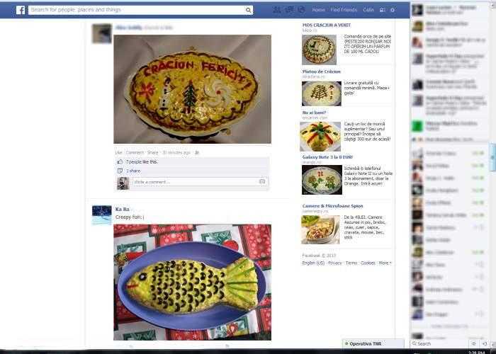 Crăciunul pe Facebook! Numărul de poze cu salată de boeuf l-a depăşit pe cel al pozelor cu pisici