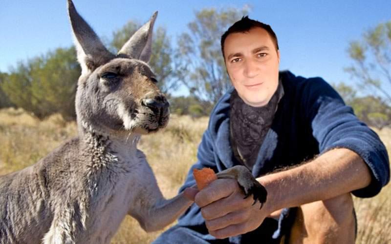 Incendiu în Delta Văcăreşti. Marian Godină a salvat 3 koala şi 4 canguri