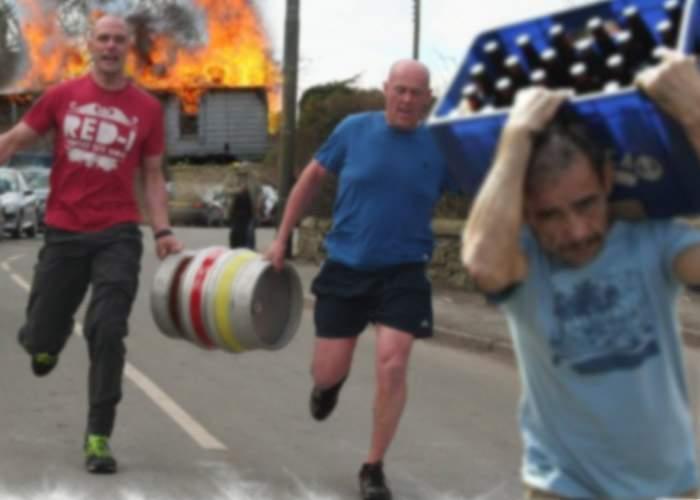 """50.000 de voluntari au stins un incendiu la o fabrică de bere: """"Se putea întâmpla o nenorocire!"""""""