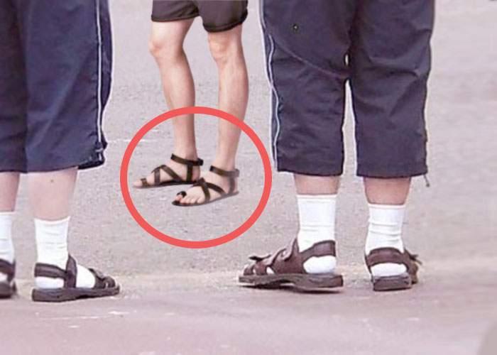 Un cocalar s-a făcut de râs în faţa prietenilor. A ieşit în sandale fără şosete