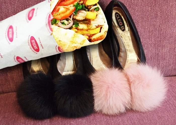 Piţipoancă, nevoită să schimbe zilnic pantofii cu puf fiindcă se năclăiesc cu maioneză de la şaorma